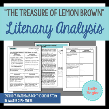 The Treasure Of Lemon Brown Literary Analysis Graphic Organizers