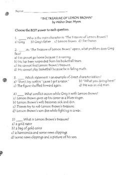 """""""The Treasure of Lemon Brown"""" assessment"""