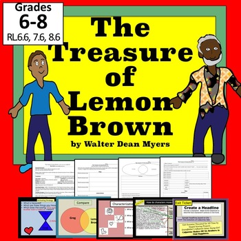 """The Treasure of Lemon Brown""  lesson, PPT, Worksheets NO PREP!"