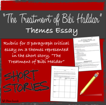 The Treatment Of Bibi Haldar Short Story Essay On Themes By Livmjev The Treatment Of Bibi Haldar Short Story Essay On Themes  Essay Thesis Statement Examples also Essay Topics For High School English  Assignment Help Malaysia