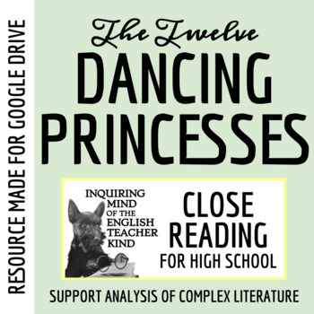 """""""The Twelve Dancing Princesses,"""" a Grimms' Fairy Tale: Guided Reading Worksheet"""