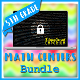 ⭐ The ULTIMATE 5th Grade Math Centers Bundle ⭐ Escape Rooms and Task Cards