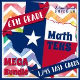 ⭐ The ULTIMATE 6th Grade Math TEKS Task Cards Bundle ⭐ STAAR Task Cards