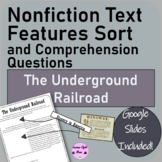 The Underground Railroad Nonfiction Text Features Sort & Q