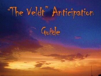 """""""The Veldt"""" Anticipation Guide Free"""