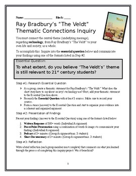 """""""The Veldt"""" Thematic Inquiry Project"""