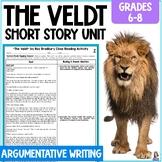 """""""The Veldt"""" by Ray Bradbury Short Story Unit & Argumentative Writing Task"""