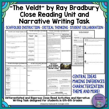 """The Veldt"" by Ray Bradbury Close Reading & Narrative Writing Task Unit"