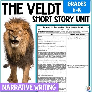 """""""The Veldt"""" by Ray Bradbury Close Reading & Narrative Writ"""
