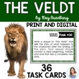 """""""The Veldt"""" by Ray Bradbury Task Cards with EDITABLE Templates"""