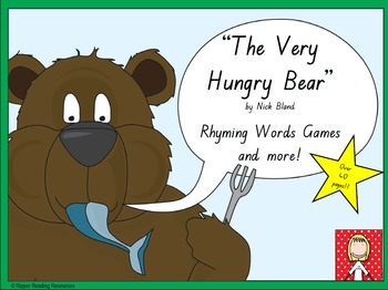 """""""The Very Hungry Bear"""" rhyming words games"""