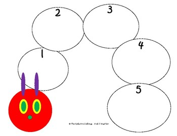 """The Very Hungry Caterpillar"" 1-5 Counting Activity"