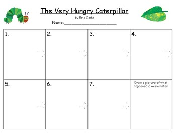 """""""The Very Hungry Caterpillar"""" Sequencing"""