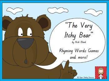 """""""The Very Itchy Bear"""" rhyming words games and more!"""