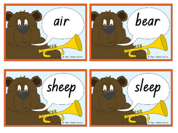 """The Very Noisy Bear"" Rhyming Words Games"