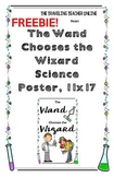 """The Wand Chooses the Wizard"" Science Poster Freebie, 11x17"