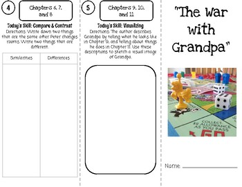 """""""The War with Grandpa"""" Trifold Novel Study"""