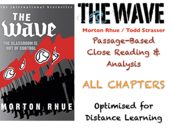 """""""The Wave"""" - Morton Rhue / Todd Strasser - Complete Teaching BUNDLE + ANSWERS"""