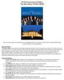 """""""The West Wing"""" Viewing Guide"""