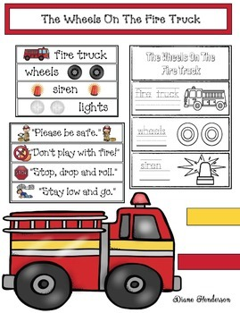 "Fire Safety Activities: ""The Wheels On The Fire Truck!"""