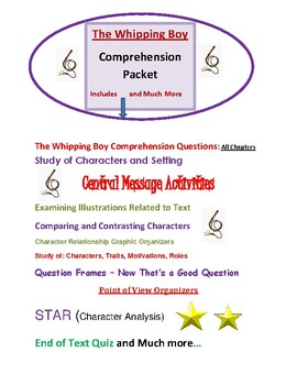 """ The Whipping Boy""  Comprehension Packet"