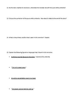 """The White Umbrella"" by Gish Jen: Assessment or Worksheet & Detailed Answer Key"