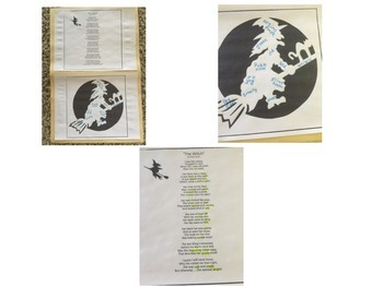 'The Witch' Halloween themed poem for adjectives and sensory words.