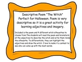 'The Witch' Halloween themed poem for adjectives and senso