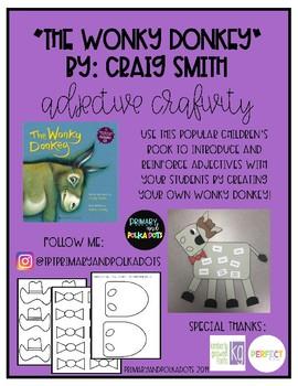 """The Wonky Donkey"" Adjective Craftivity"