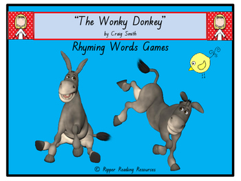 """""""The Wonky Donkey"""" Vocabulary games, inferring and more!"""
