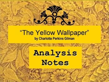 The Yellow Wallpaper Short Story Analysis