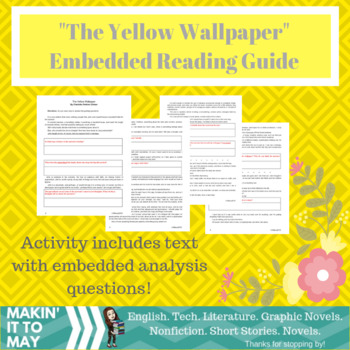 """The Yellow Wallpaper"" Reading Guide by Makin' It to May 