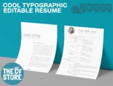 The Cool & Modern Resume / CV - Detailed with photo