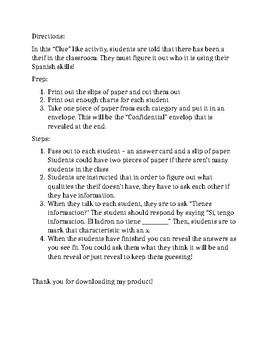 """""""Theif"""" Activity - Tener Practice"""