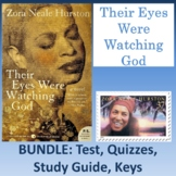 """""""Their Eyes Were Watching God"""": Bundle of Test, Quizzes, S"""