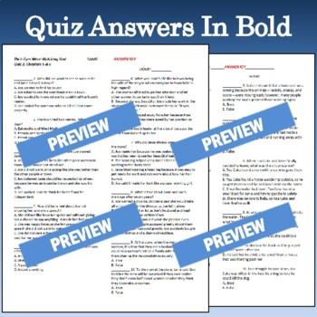"""Their Eyes Were Watching God"": Quizzes & Answer Keys"