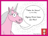 """Thelma the Unicorn"" - 4 rhyming words games + more!"