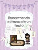 Theme in Spanish- Tema