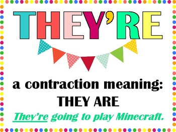 """""""There Their They're"""" Mini Posters"""