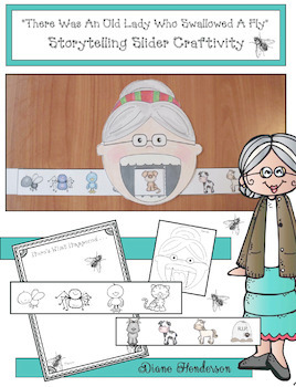 """""""There Was An Old Lady Who Swallowed A Fly"""" Sequencing & Storytelling Slider"""