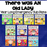 """""""There Was An Old Lady"""" Year Long Kindergarten Sub Plans"""