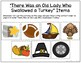"""There Was an Old Lady Who Swallowed a Turkey"" Story Retelling Freebie"