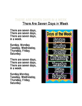 """There are Seven Days in a Week"" Song"