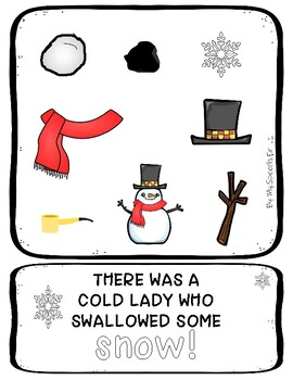 """""""There was a Cold Lady Who Swallowed Some Snow"""" Flip Book"""