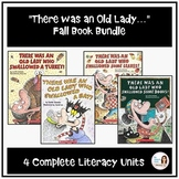 """There was an Old Lady"" Fall Speech Therapy Bundle (4 Complete Literacy Units)"