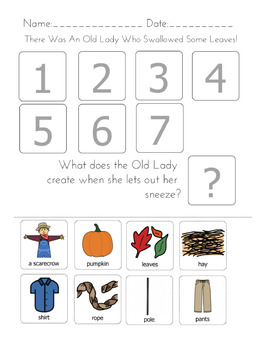 """There was an Old Lady Who Swallowed A...Seasonal Bundle"" Sequencing Worksheets"