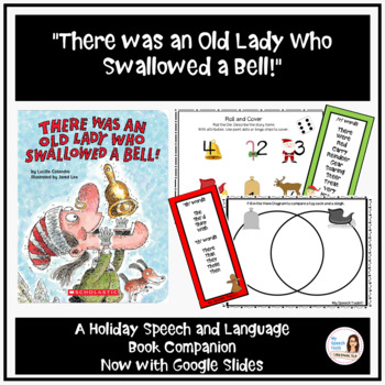 """""""There was an Old Lady Who Swallowed a Bell!"""" Speech and Language Book Companion"""