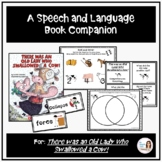 """""""There was an Old Lady Who Swallowed a Cow!"""" Speech Therapy Book Companion"""