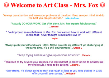Art Teacher Classroom Guide