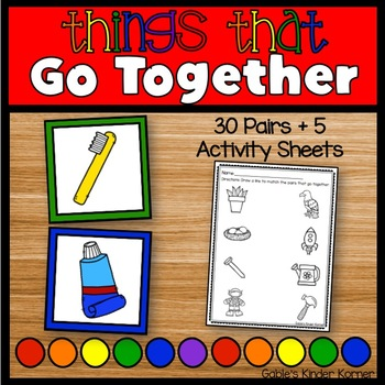 """""""Things That Go Together"""" Game + Activity Sheets"""